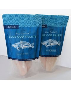 Blue Cod Fillets IQF Skin Off Bone Out 500g/Frozen