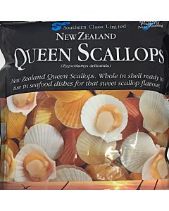 Scallops Queen Whole in Shell 1kg/Frozen