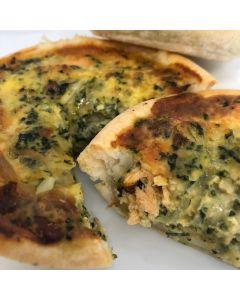 Pie Smoked Salmon & Spinach Quiche/Frozen