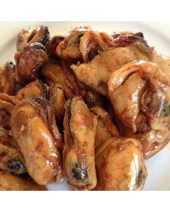 Hot Smoked Mussels Garlic 250g/Fresh